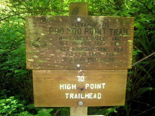 One of the many Signs on Tiger Mountain