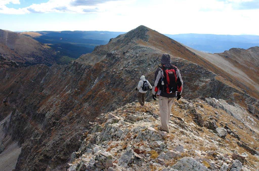 Traversing from Middle to Medio Truchas Peak
