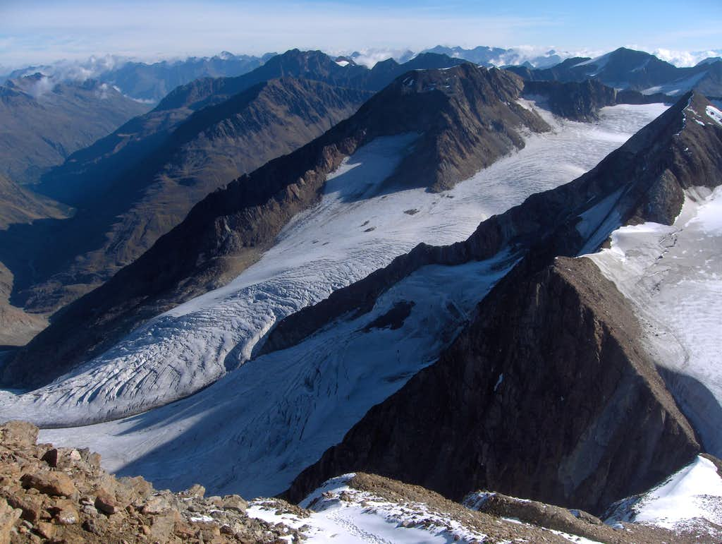 Similaun summit view