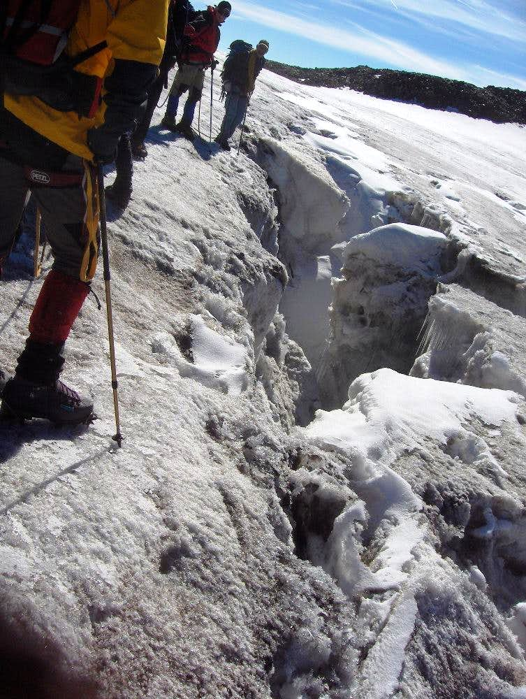Crevasse on the Grafferner