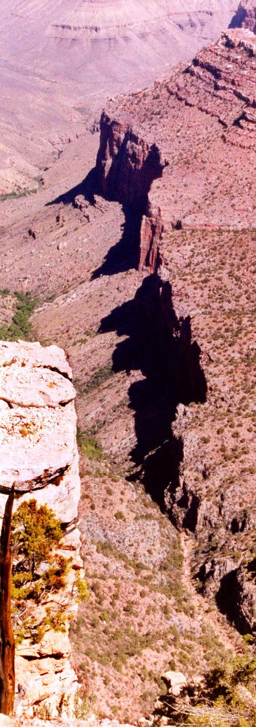 Cliff and Shadows