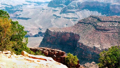 Down Into Bright Angel Canyon