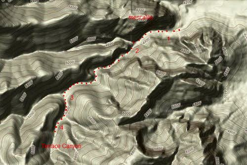 Terrace Canyon map