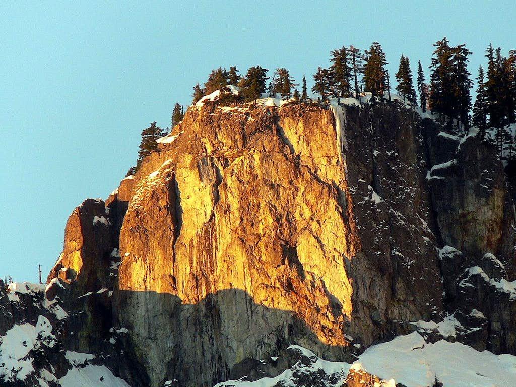 Sun lit Cliff