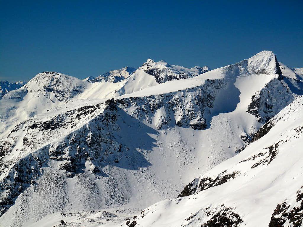 Feldseekopf (2864m), Geisselkopf (2974m), Gamskarlspitze (2833m)