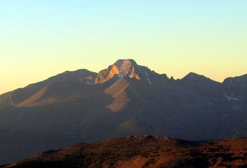 Longs Peak seen from the...