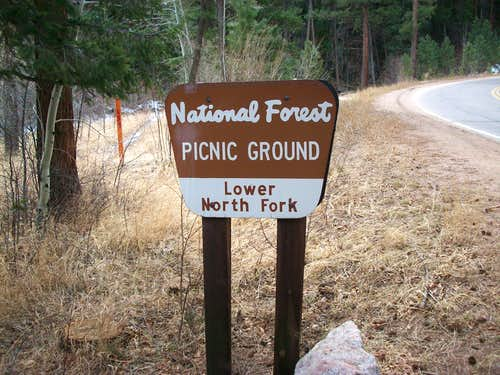 Lower North Fork picnic area