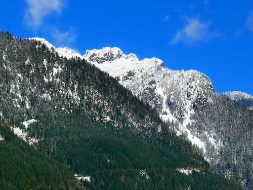 Mount Index Hiding Behind the Ridge