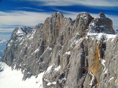 The entire south wall of the Dachstein group