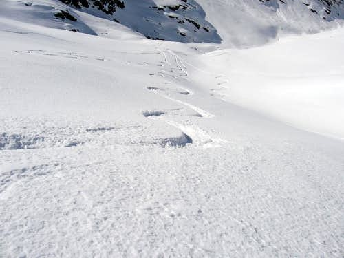 Skiing on powder.