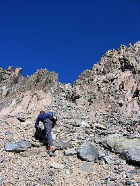 Climbing up easy class 3...