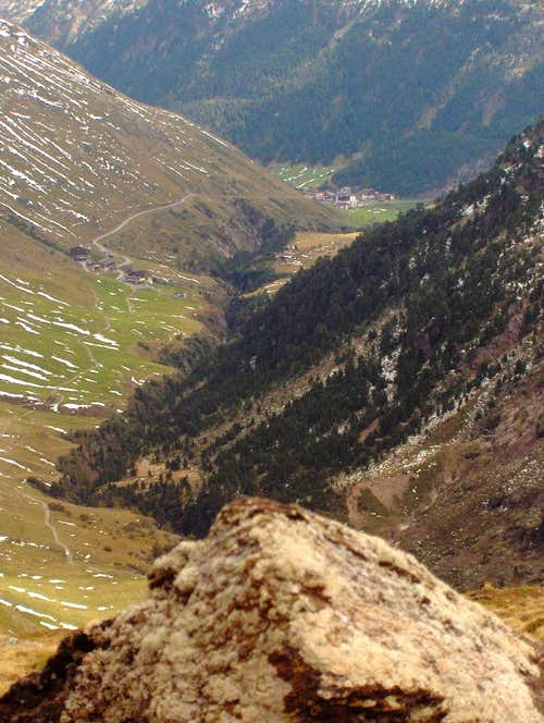 View down the Rofental