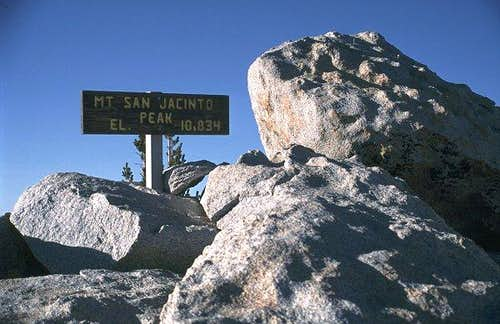 The summit of San Jacinto is...