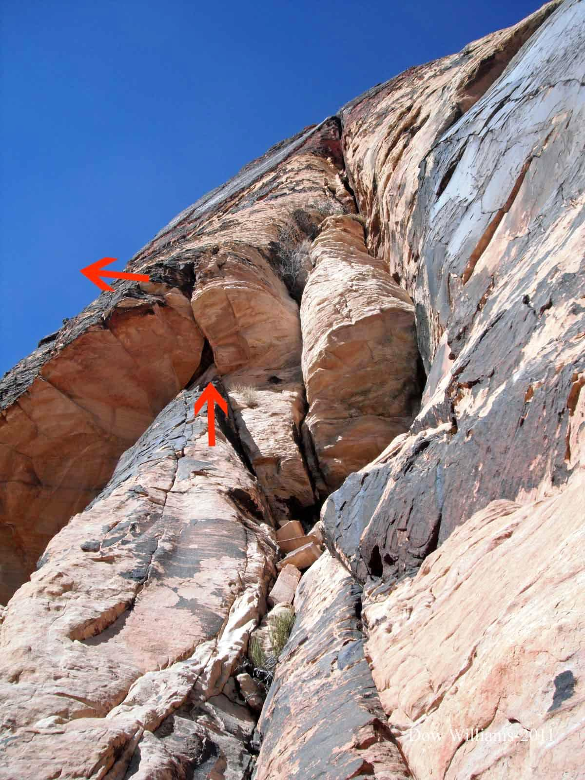 Sandcastle, 5.10c, 4 Pitches