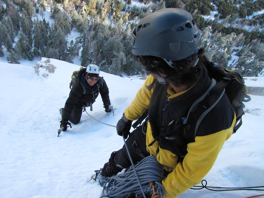 NE Face W, Tahquitz, Winter 2010