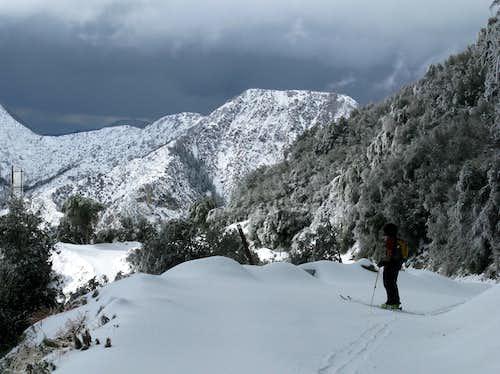Skiing Mount Wilson near Pasadena, CA