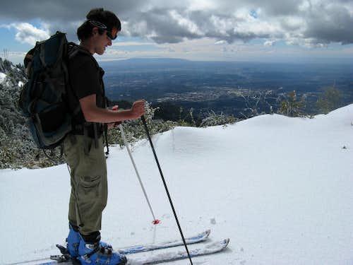 Skiing Mount Wilson