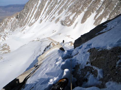 Looking Down P6 of the East Ridge