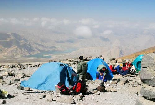 Campsite at 4150m on Damavand, Iran