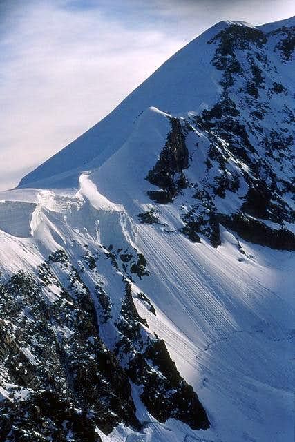 West Lyskamm: the west ridge,...