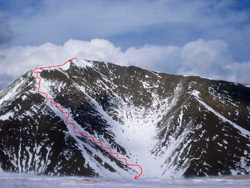 San Luis Winter Ascent / Ski Descent – 3-12-11