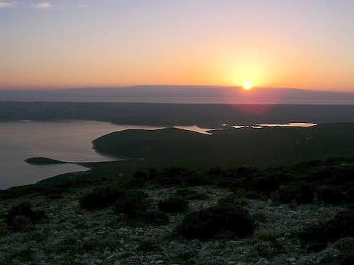 Sunrise on the north ridge of...