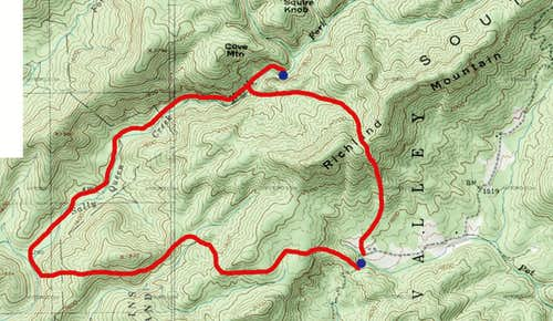 The Route of Our Bushwhack