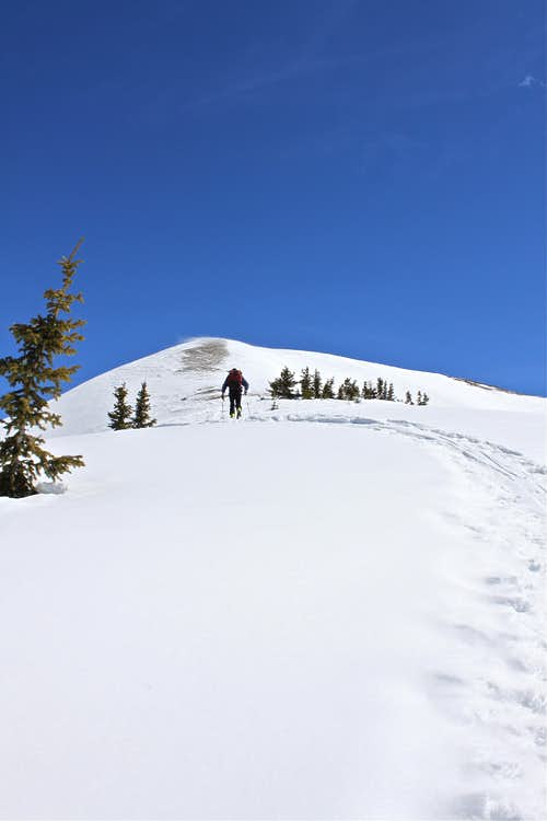 Anvil Mountain - backcountry skiing