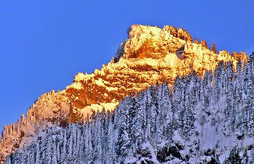 Sunset over Mount Dickerman