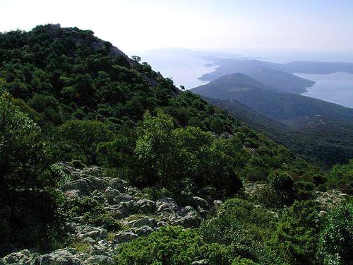 On the summit ridge of...