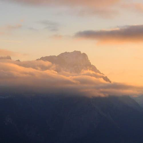 Sunset over the Zugspitze