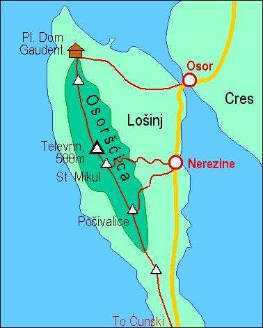 A self-made map of Osorscica...