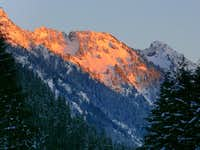 Alpenglow on Sheep Mountain