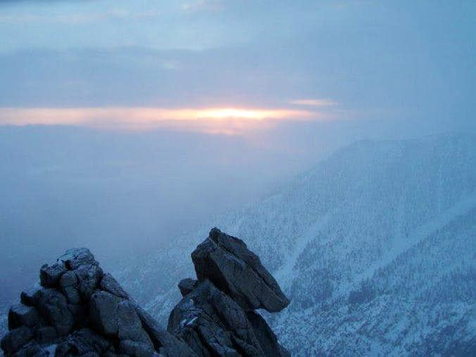 Dawn on Winter Route