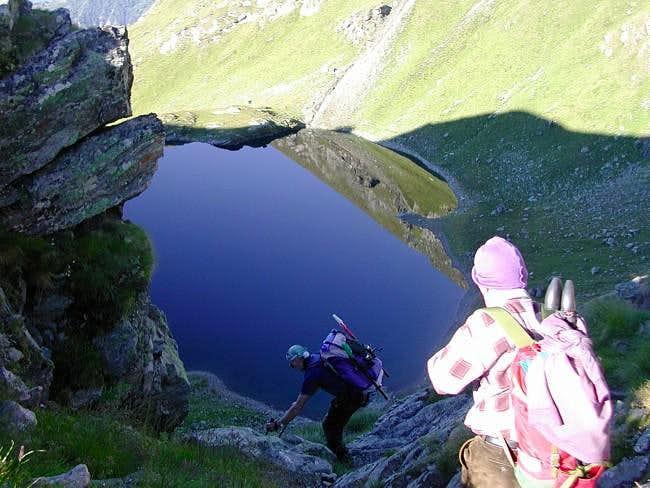 Discesa al lago Bringuez...