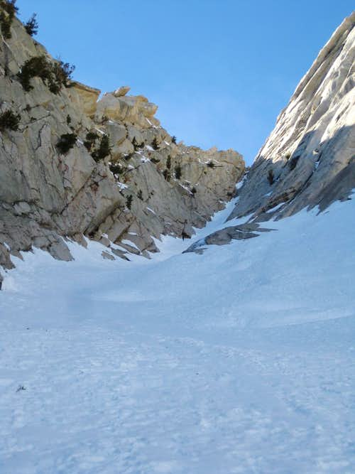 Second gully, Winter Route, LPP