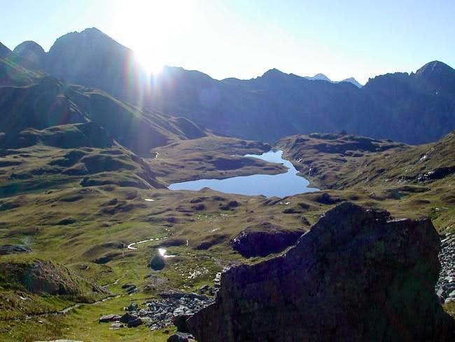 Il lago Battaglia (2487 m.)