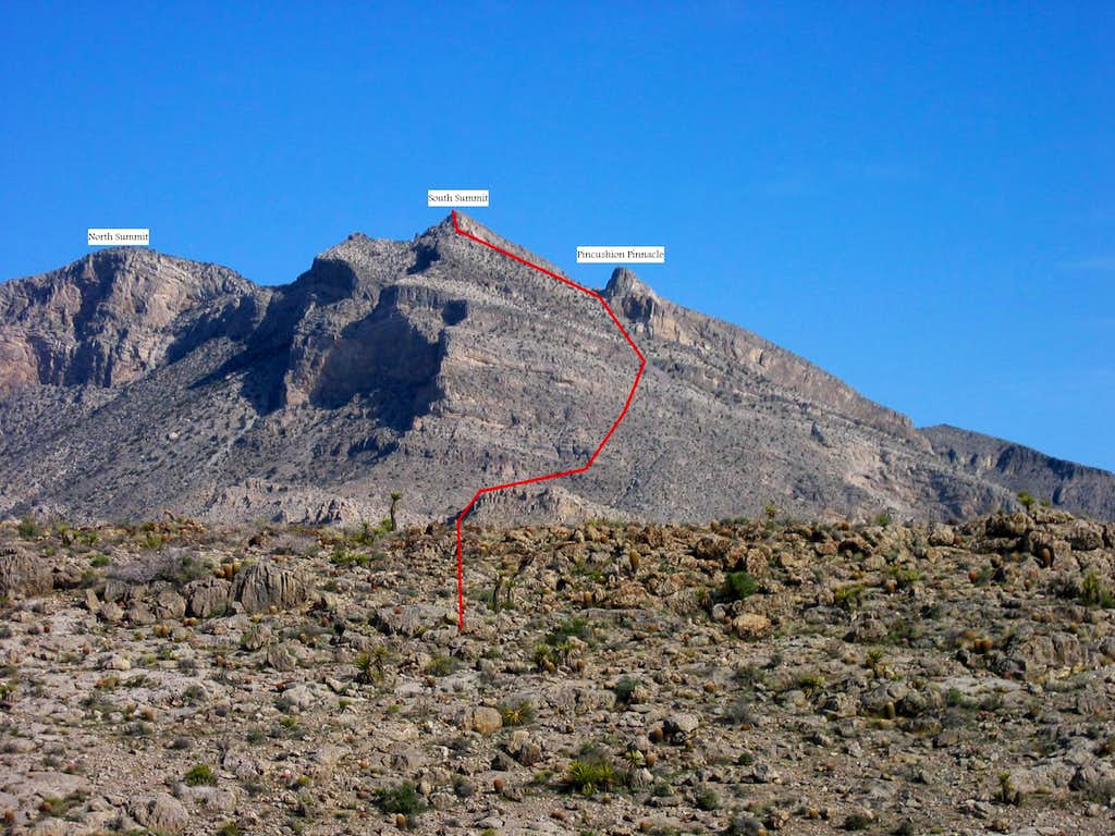 Route to S Summit