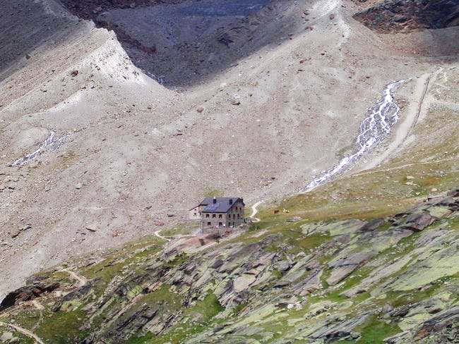Weissmies hut from the...