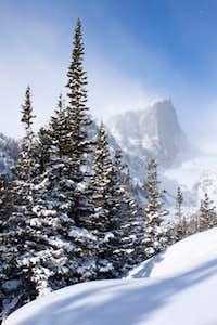 Hallett Peak in March