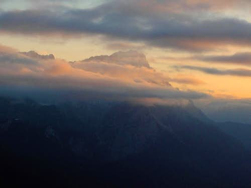 Sunset on the Zugspitze