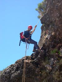 The second rappel