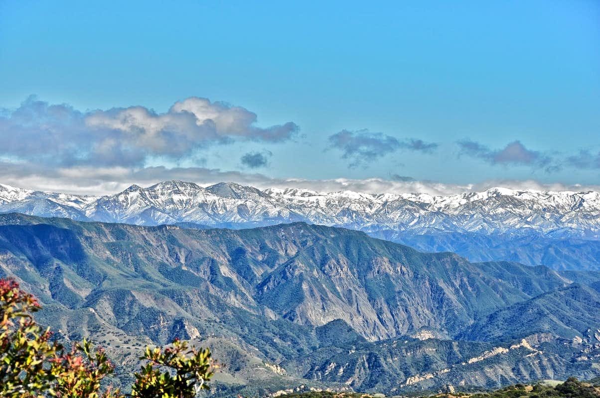 Snow Covered San Gabriel Mountains Photos Diagrams Topos - Us map san gabriels mountain range