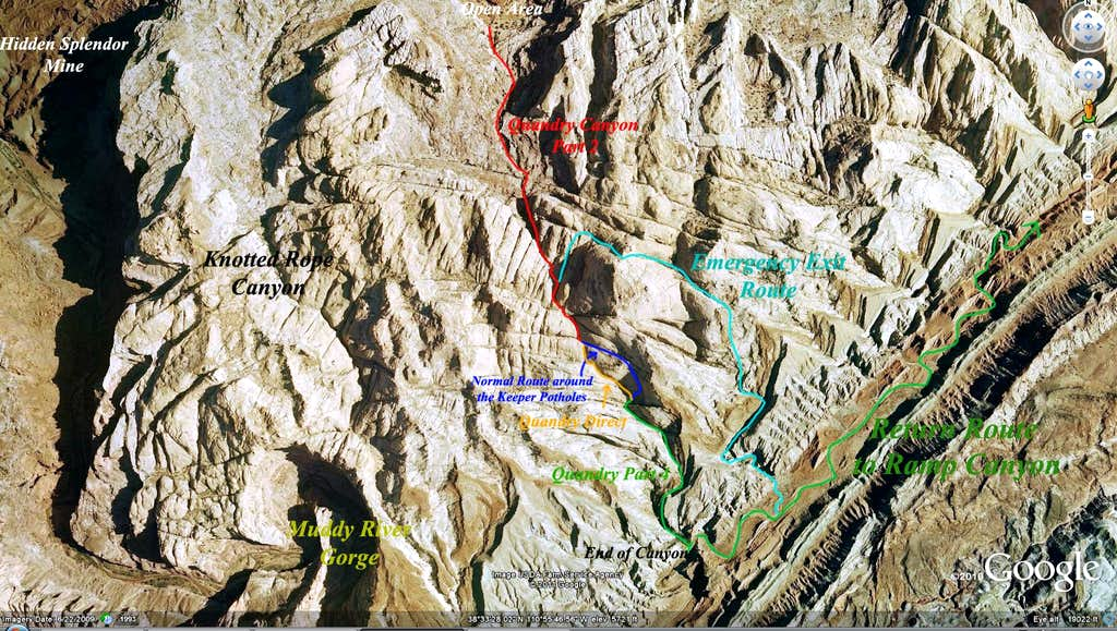 GE image showing lower Quandry Canyon