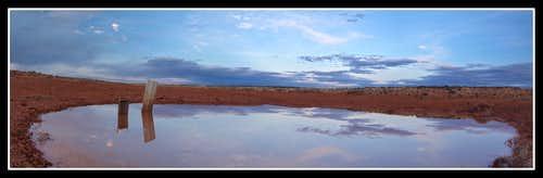 Stock pond Reflection