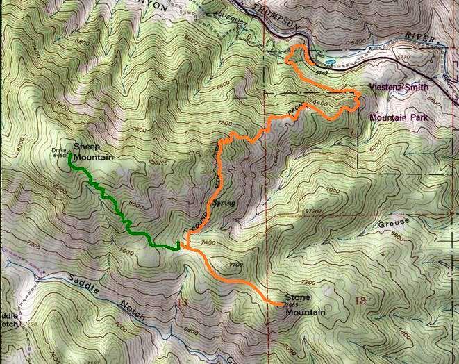 Stone Mountain route map