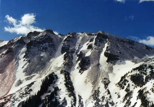 Greg Mace Peak\'s upper ridge...