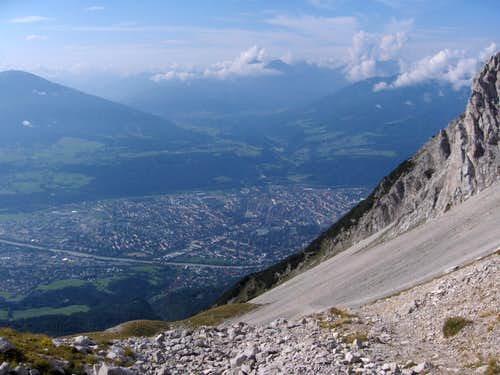 Looking down on Innsbruck