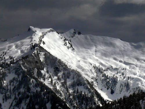 Lennox Peak with Dark Clouds