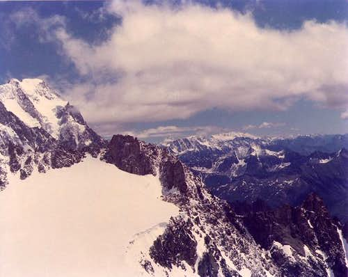 grandes jorasses from rifugio...